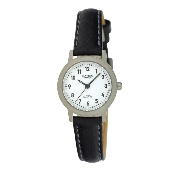 Olympic Ladies Titanium Strap Watch 12 Figure Dial on Strap