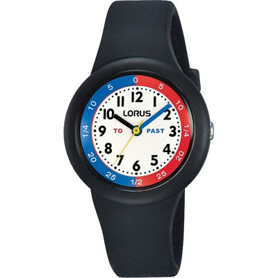 LORUS KIDS TIME TEACHER BLACK 100M