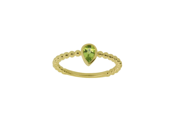 9k Yellow Gold Peridot Ring
