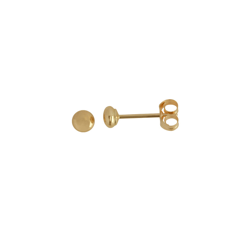 9k Rose Gold 3mm Ball Studs