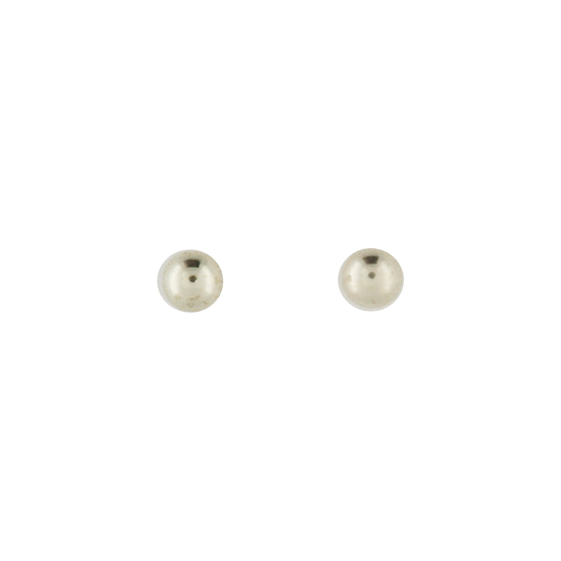 9k White Gold Rhodium Plated Ball Studs