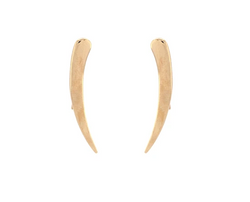 9K Yellow Gold Slide Earrings
