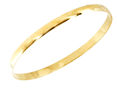 9k Yellow Gold Bangle Bracelet