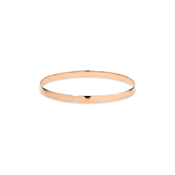 9k Rose Gold Half Round Golf Gold Bangle Bracelet