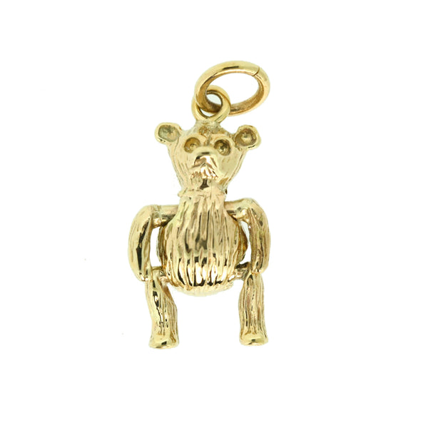 9ct Teddy Bear Charm moveable