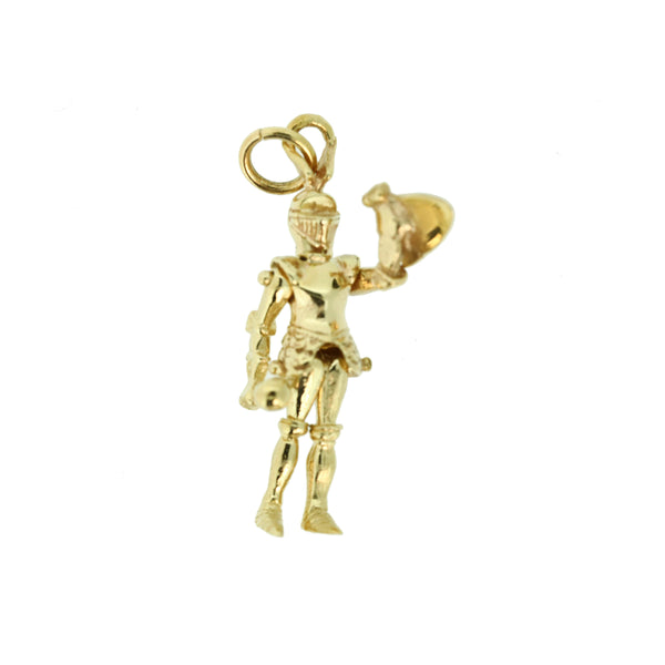 9ct Knight in Armour Charm