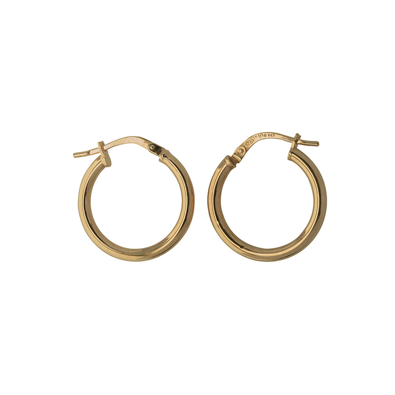 9YS Silver Filled Plain Hoop Earrings