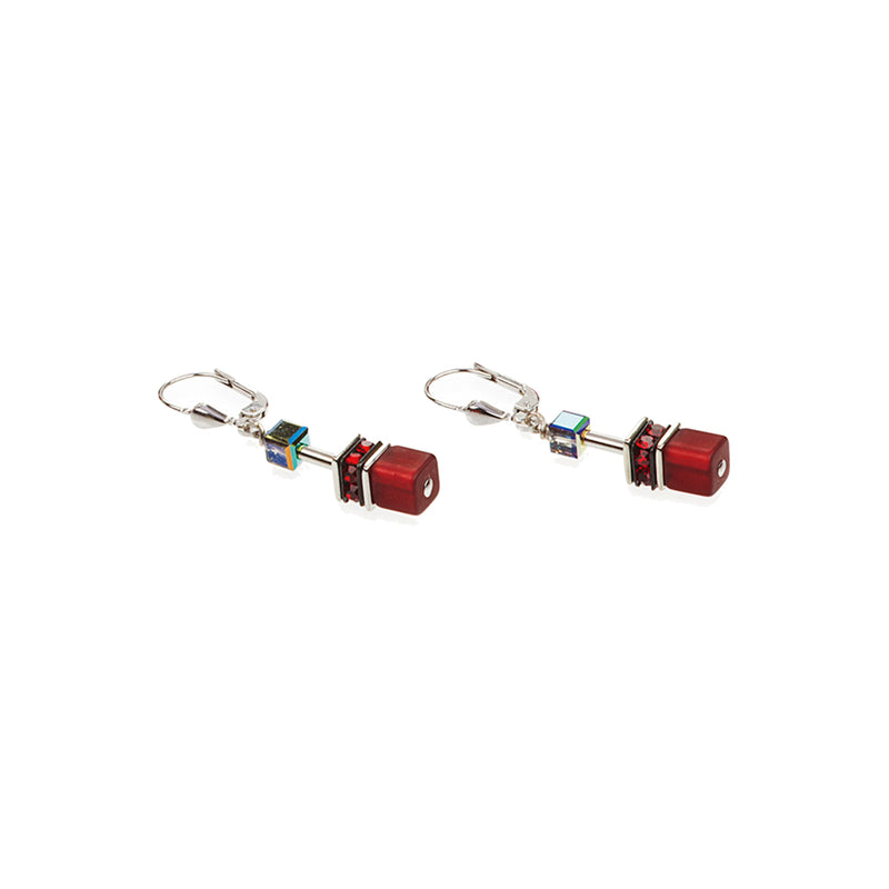 Coeur De Lion CL 4014/20-0312 Earrings Hanging Red, Grey S/Steel, Glass and Swarovski Crystal