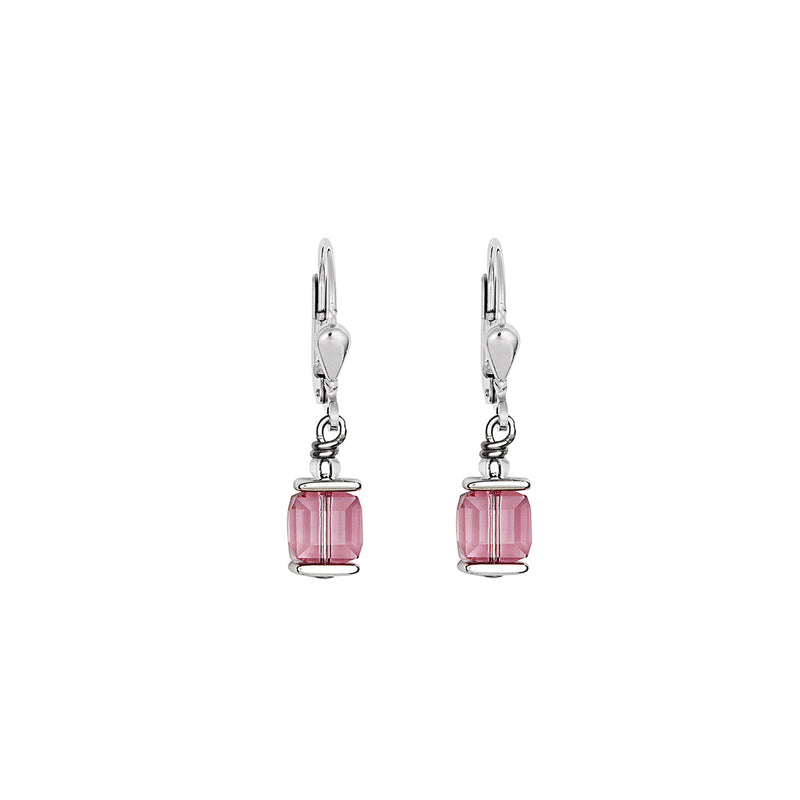 CL 0094/20-1920 Earrings St/St with Light Rose Colour Swarovski Crystals & St/Stl Fitting