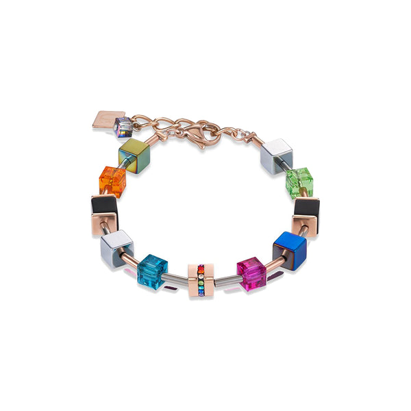 Coeur De Lion CL4980/30-1500 Multi Colour Geo-cube Bracelet