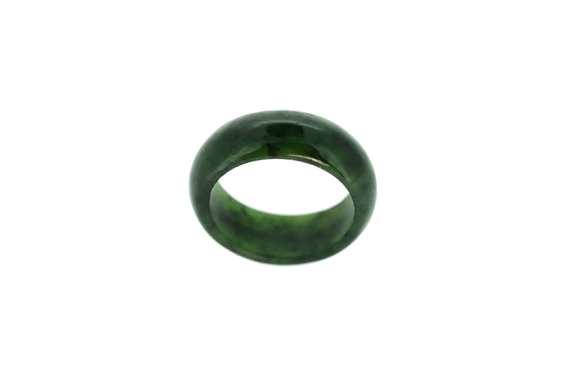 NZ Greenstone Jade Ring 8mm