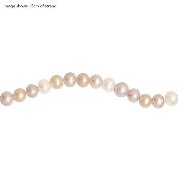 Fresh Water 9-10mm Potato Natural Pink Mix Strand Necklace