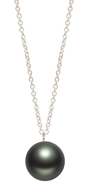 Tahitian 11-12mm Pearl Running on 40cm Chain Necklace