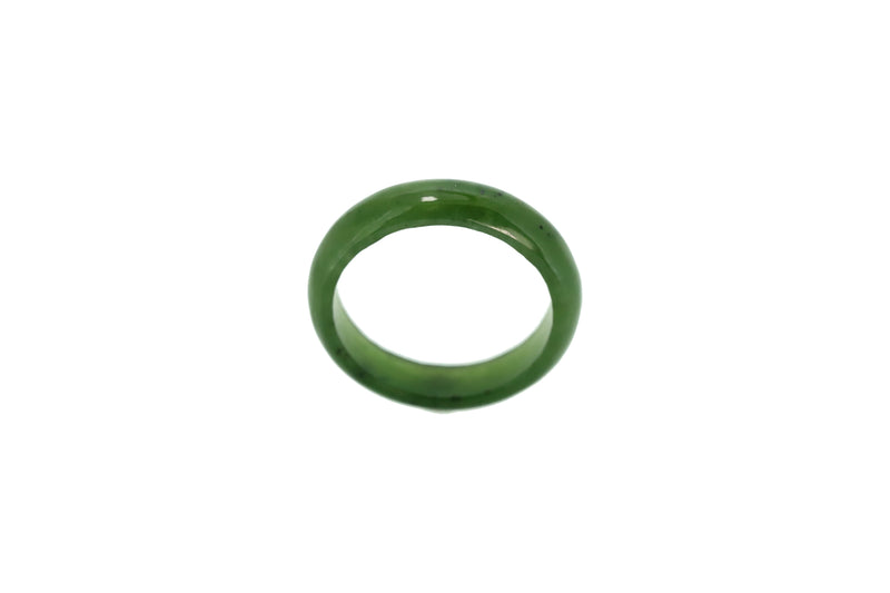 NZ GREENSTONE JADE RING 4MM