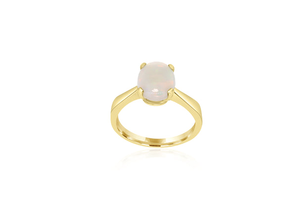 9K Yellow Gold Opal Ring