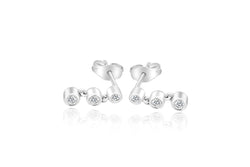 18k White Gold Drop Diamond Earrings