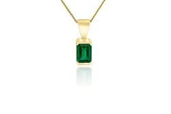 9k Yellow Gold 0.95ct emerald pendant