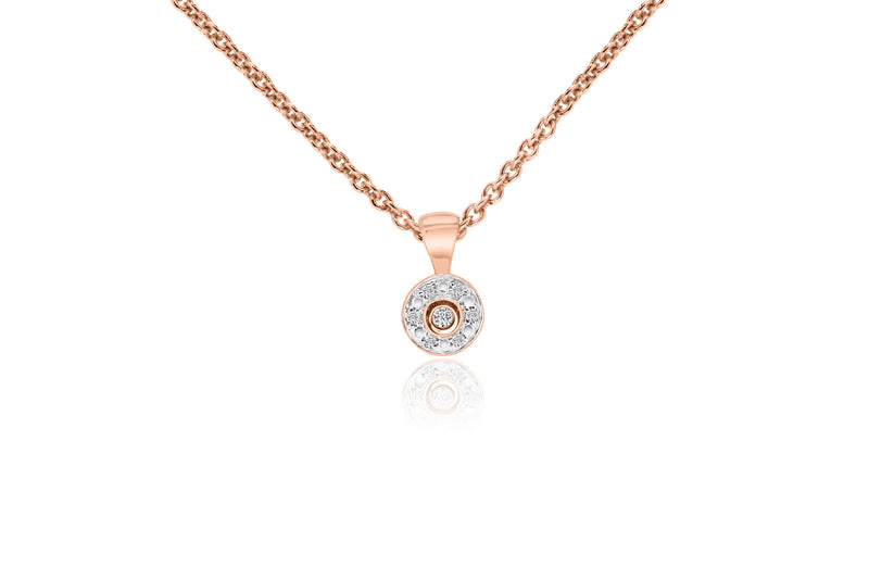 9k Rose Gold Diamond Pendant