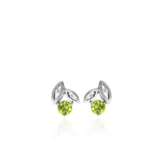 Evolve Earrings Promise Leaf Studs (Growth) 3E40003