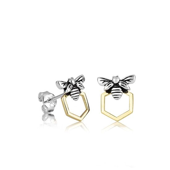 Evolve Earrings Honey Bee Studs (Luck) 3E40017