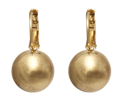 Dansk Tihomria Gold Colour Ion Plt Ball Earrings with Surgical Steel Posts
