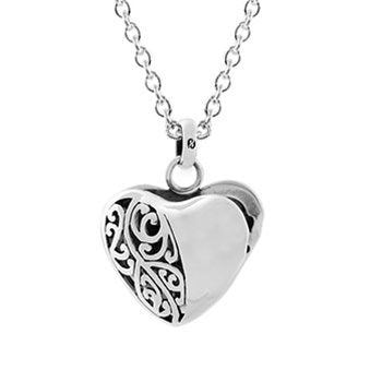 Evolve Necklaces koru heart locket with chain
