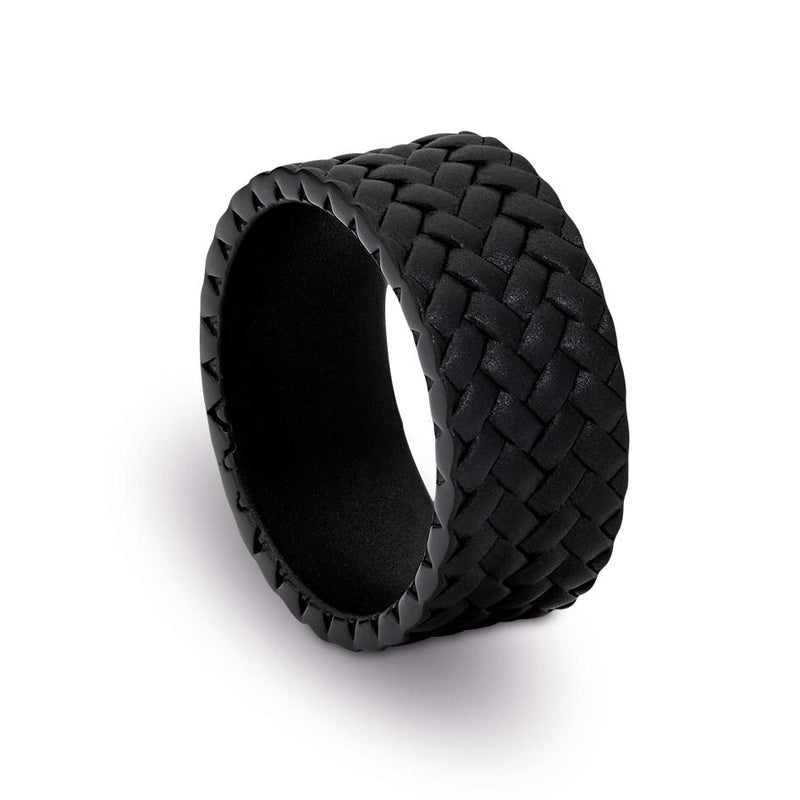 CUDWORTH BLACK STAINLESS STEEL TYRE PATTRN RING, SIZE T
