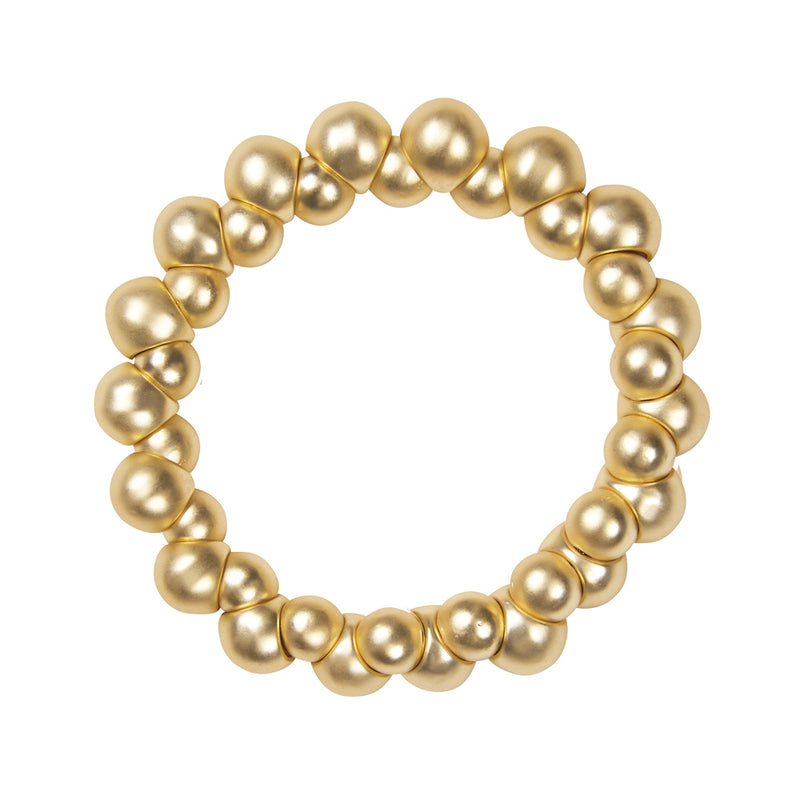 Dansk Burst Stretch Gold Colour Ion Plt Bracelet