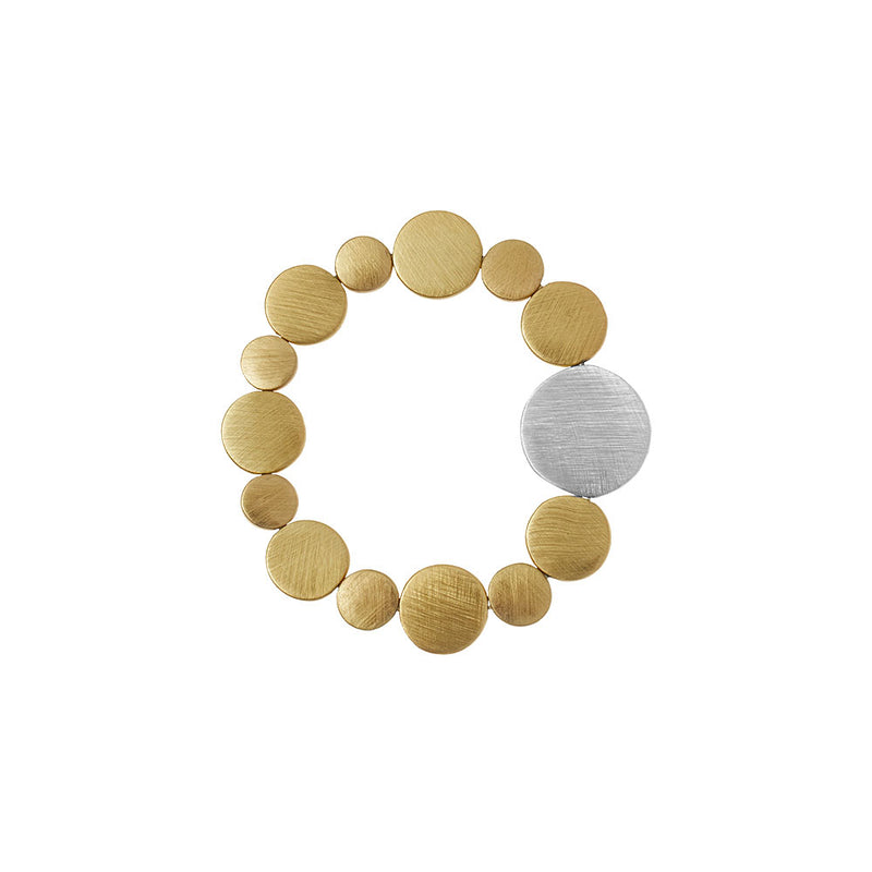 Dansk Vanity Dynamic Stretch Gold Colour Ion Plt Bracelet