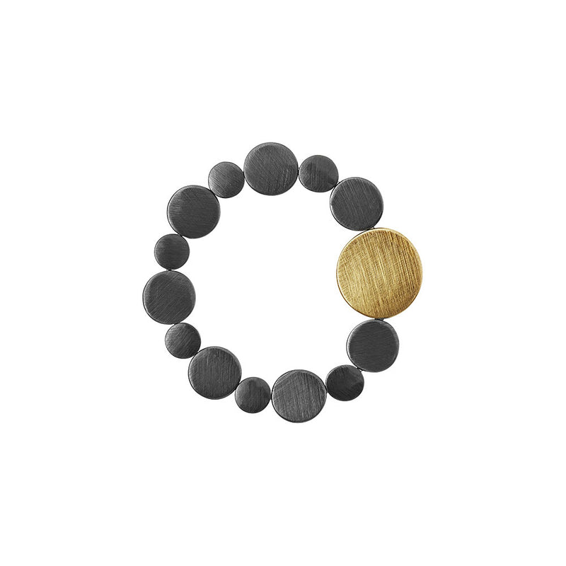 Dansk Vanity Dynamic Stretch Hematite Colour Ion Plt Bracelet