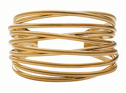 Dansk Tara Gold Plated Multi Strand Open Bangle