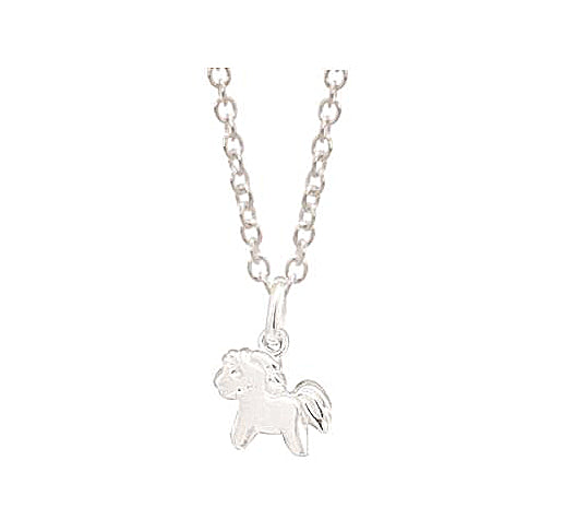 Stg Silver Pony Children Pendant with Stg Chain