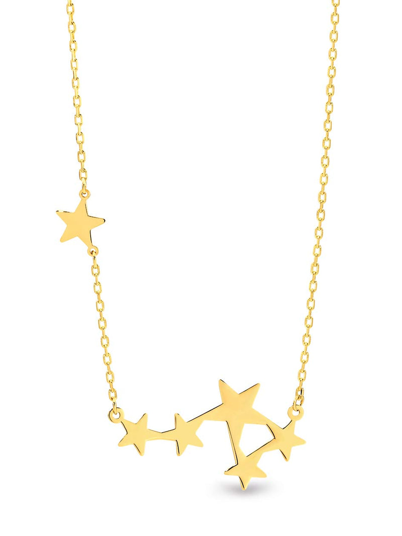 9K Yellow Gold Chain with Stars
