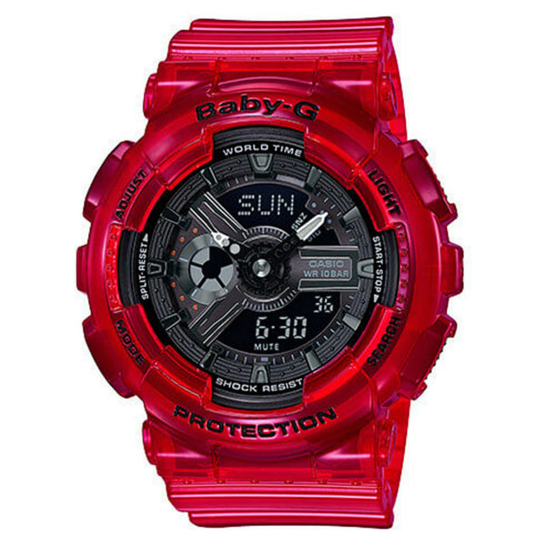 CASIO BABY G CORAL REEF COLOUR RED