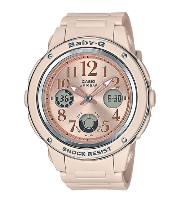 Casio Baby G Watch Pink Beige Analog-Digital