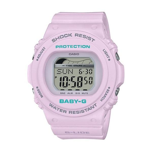 CASIO BABY G WATCH TIDE GRAPH, MOON DATA, 200M WR PURPLE PASTEL