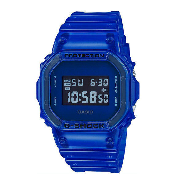 Casio Men's G-Shock Digital Sport Watch See-through Blue