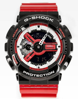 CASIO G-SHOCK DUO BLK & RED SERIES BLK BEZ, RED CASE 7 RESIN