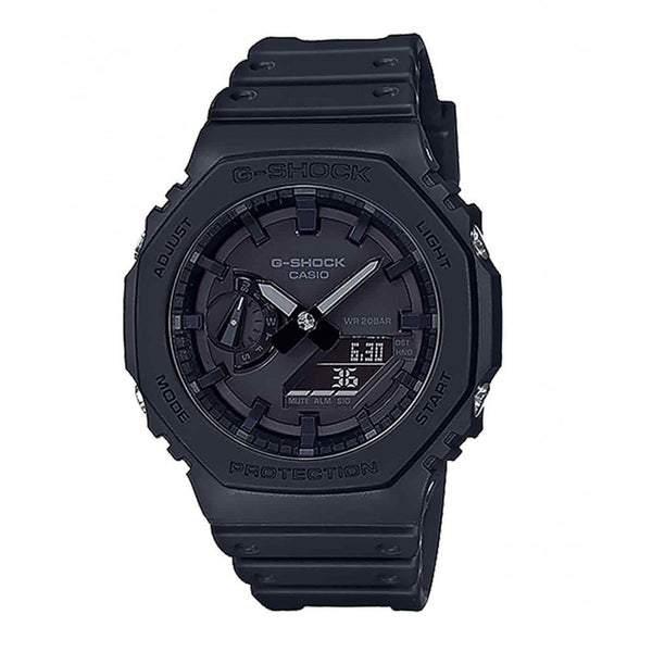 CASIO G-SHOCK  WATCH Carbon Core Guard structure NEW BASIC DUO SLIM ALARM 200M WR, BLK FACE & RESIN BAND