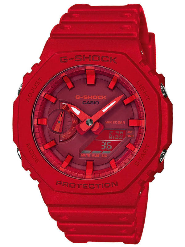 CASIO G-SHOCK NEW BASIC DUO SLIM, ALARM, S/W 200M , RED FACE& RESIN BAN