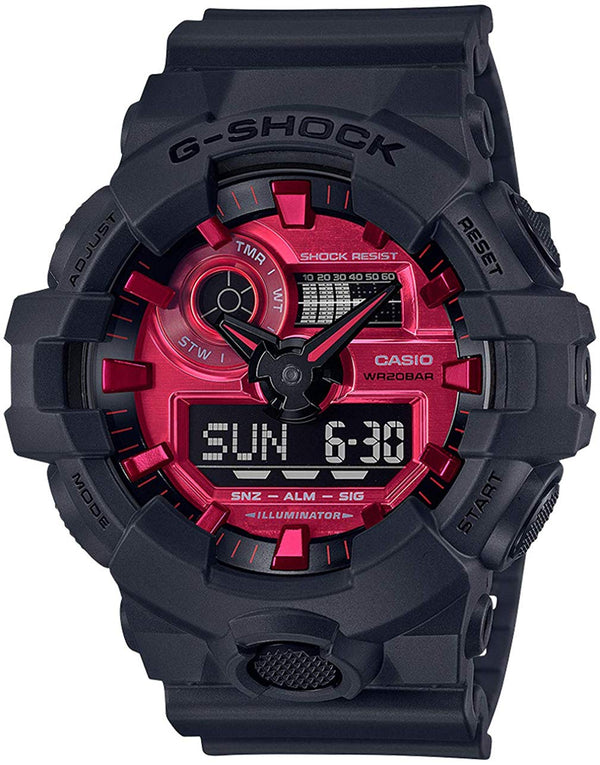 CASIO G-SHOCK DUOADRENALIN RED ED 1/100 S/WATCH, ALARM 200M, RED LCD