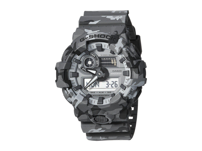 CASIO G-SHOCK  CAMO, SUPER ILLUM, 20 BAR DIG/ANA