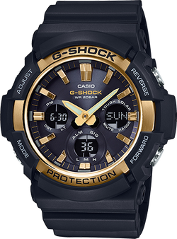 Casio Mens G-Shock Watch Tough Solar-Powered Shock Resistant with Alarm