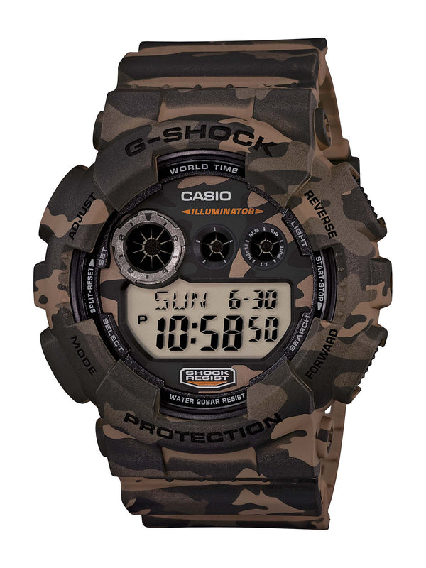 CASIO G-SHOCK STREET LARGE CASE CAMO DIGITAL WATCH