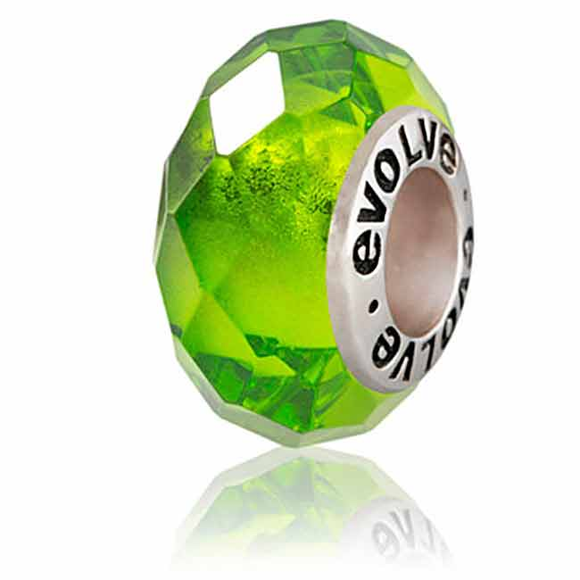 Evolve Charms Murano Glass Wild-Emerald GK 46