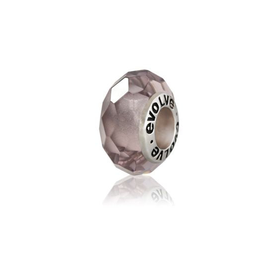 Evolve Charms Murano Glass Twilight Quartz GK48