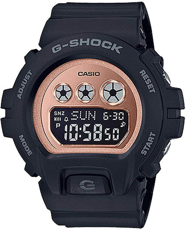 CASIO BABY G METALLIC MATTE BLACK PINK GOLD DIGITAL