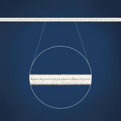STG 5MM FLAT HERRINGBONE CHAIN 45CM