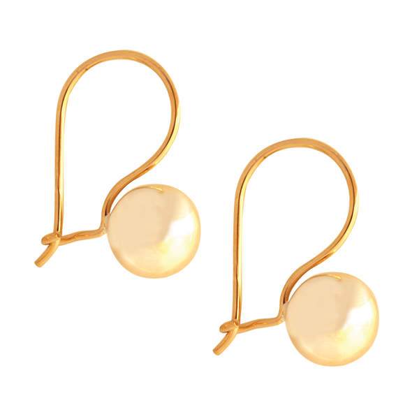 9k Yellow Gold Euroball Earrings (approx 7.5mm wide)