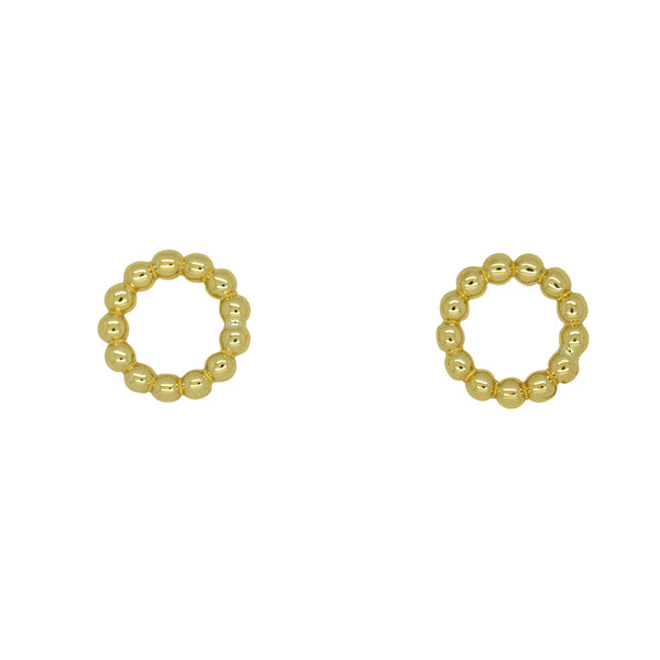 9k Yellow Gold Bubble Stud Earrings